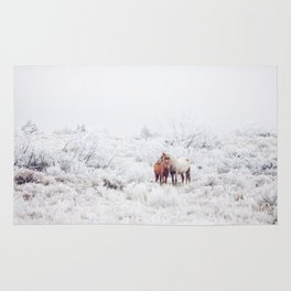Two Winter Horses Rug
