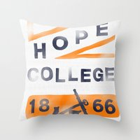 college Throw Pillows featuring Hope College by Joey Carty