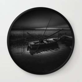 On the wrong side of the lake Wall Clock