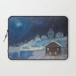 Moonlit cabin Laptop Sleeve