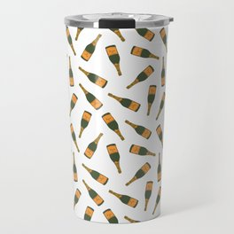 Champagne Bottle Pattern Travel Mug