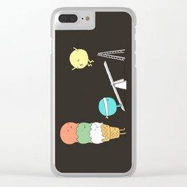 Acrobatic ice cream Clear iPhone Case