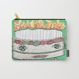 Why is it so damn HOT in here?! green Carry-All Pouch