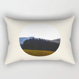 Edge Of The Forest Landscape Round Photo Rectangular Pillow