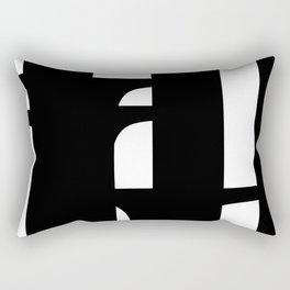 Hidden Letters. Baskerville I Rectangular Pillow