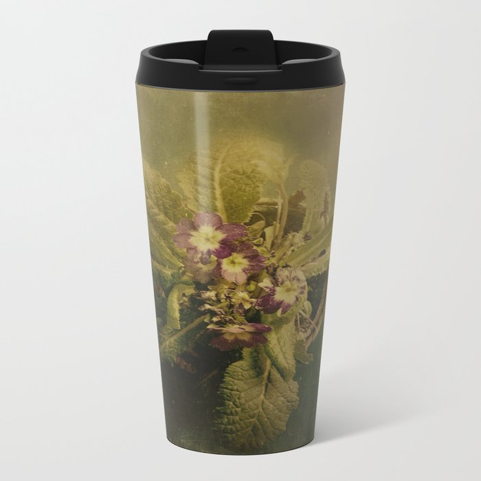 Little Winter Flower Metal Travel Mug
