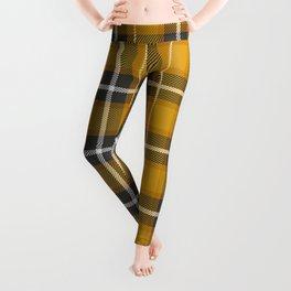 Mustard Yellow Plaid Leggings