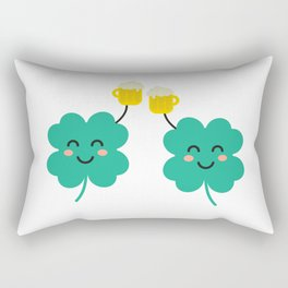 2 clover with beers Rectangular Pillow