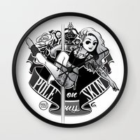 tatoo Wall Clocks featuring Pole Friends - Tatoo by Pole Friends Shop