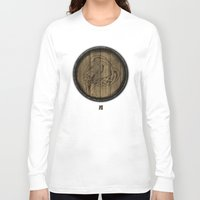 skyrim Long Sleeve T-shirts featuring Shield's of Skyrim - Whiterun by VineDesign