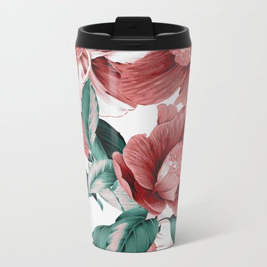 FLOWERS 10b Metal Travel Mug