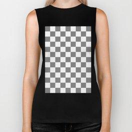 Checker (Gray/White) Biker Tank