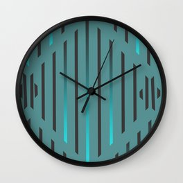 Blue Rain Wall Clock