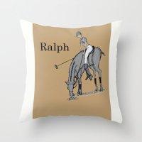 wreck it ralph Throw Pillows featuring Ralph by David Michael Schmidt