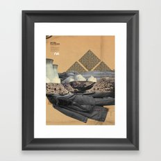 The future a time to reminisce. (mixed media) Framed Art Print