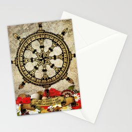 A Ship In Harbor Stationery Cards