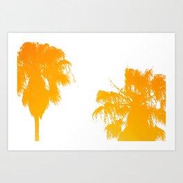 backyard palms Art Print
