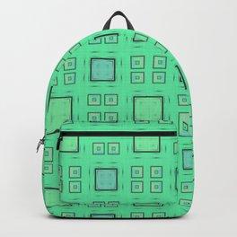 Green Geometric Pattern Backpack