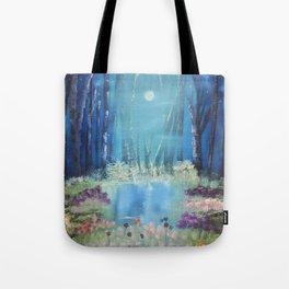 Nightfall at the pond Tote Bag