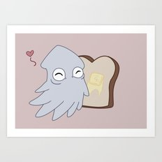 Kraken Toast Art Print