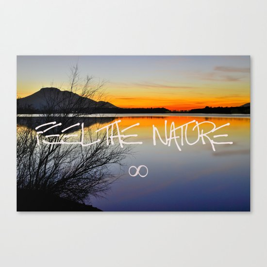 Feel the nature infinity ∞ Canvas Print