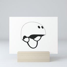 Skateboard Helmet Mini Art Print