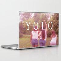 yolo Laptop & iPad Skins featuring YOLO by Emma