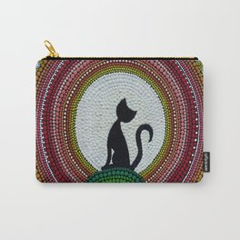 Cat likes to greet the dawn Carry-All Pouch
