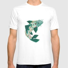scalation MEDIUM White Mens Fitted Tee