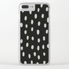 Black & White Minimal Spots Clear iPhone Case