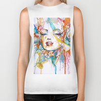 marylin monroe Biker Tanks featuring Marylin Monroe by Maria Zborovska