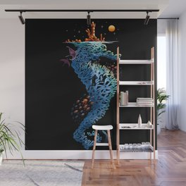 dream in blue Wall Mural