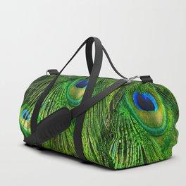 Peacock Glitter Duffle Bag