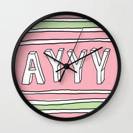 Ayyy Wall Clock