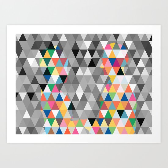 Many colors of being Art Print