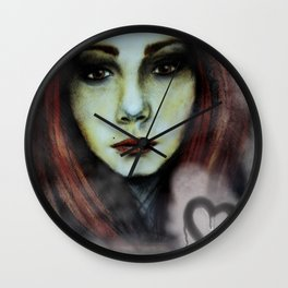 Misted Window Girl Wall Clock