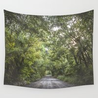 texas Wall Tapestries featuring Texas Road by Evan Wallis