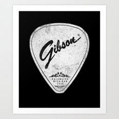 Legendary Guitar Pick Version 02 Art Print