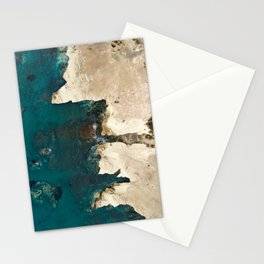 White rocks from above Stationery Cards