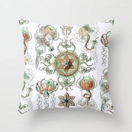 Ernst Haeckel - Trachomedusae (Jellyfish) Throw Pillow
