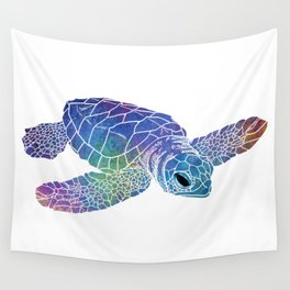 Colorful Sea Turtle I Wall Tapestry