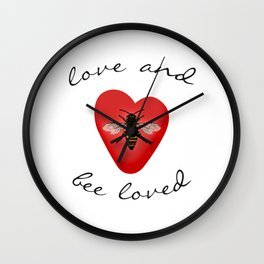Love and Bee Loved Wall Clock