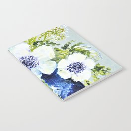 Anemones in vase Notebook