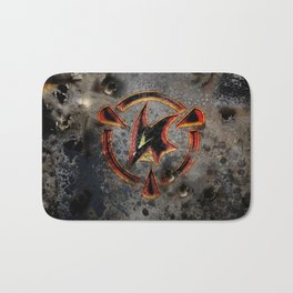 Red: Logo Bath Mat
