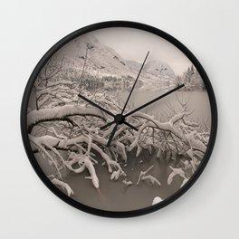 Frozen Lake Bohinj Wall Clock