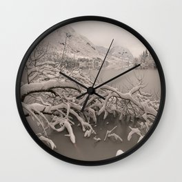 Frozen Lake Bohinj Wall Clock