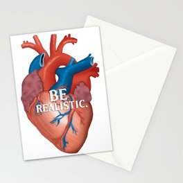 Be Realistic.  Stationery Cards