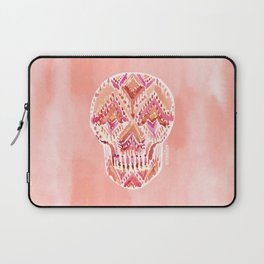 SO LIT SKULL Peach Tribal Watercolor Laptop Sleeve