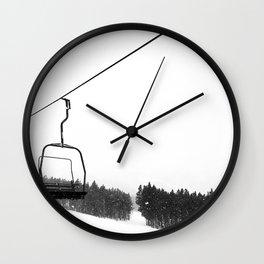 Ski Lifts Views Wall Clock