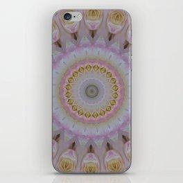 Mandala Of Yellow Roses iPhone Skin